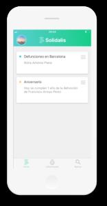 Menú de inicio app